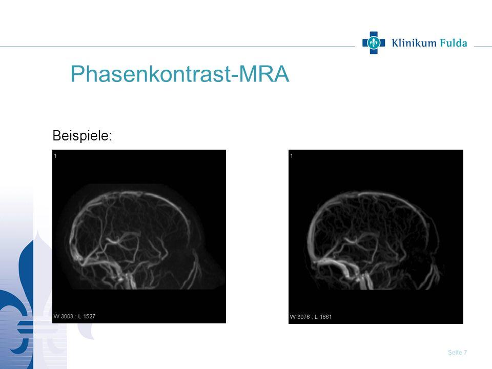 Phasenkontrast-MRA Beispiele: 7