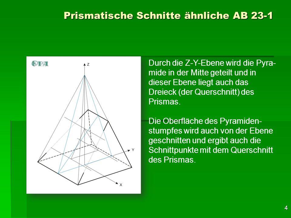 Prismatische Schnitte ähnliche AB 23-1