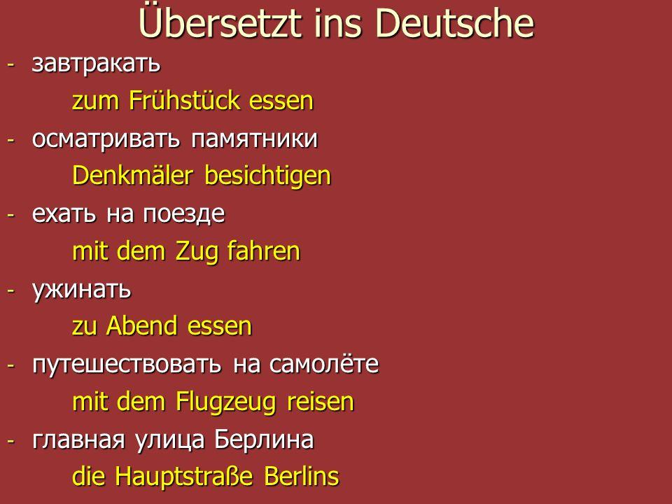 Übersetzt ins Deutsche