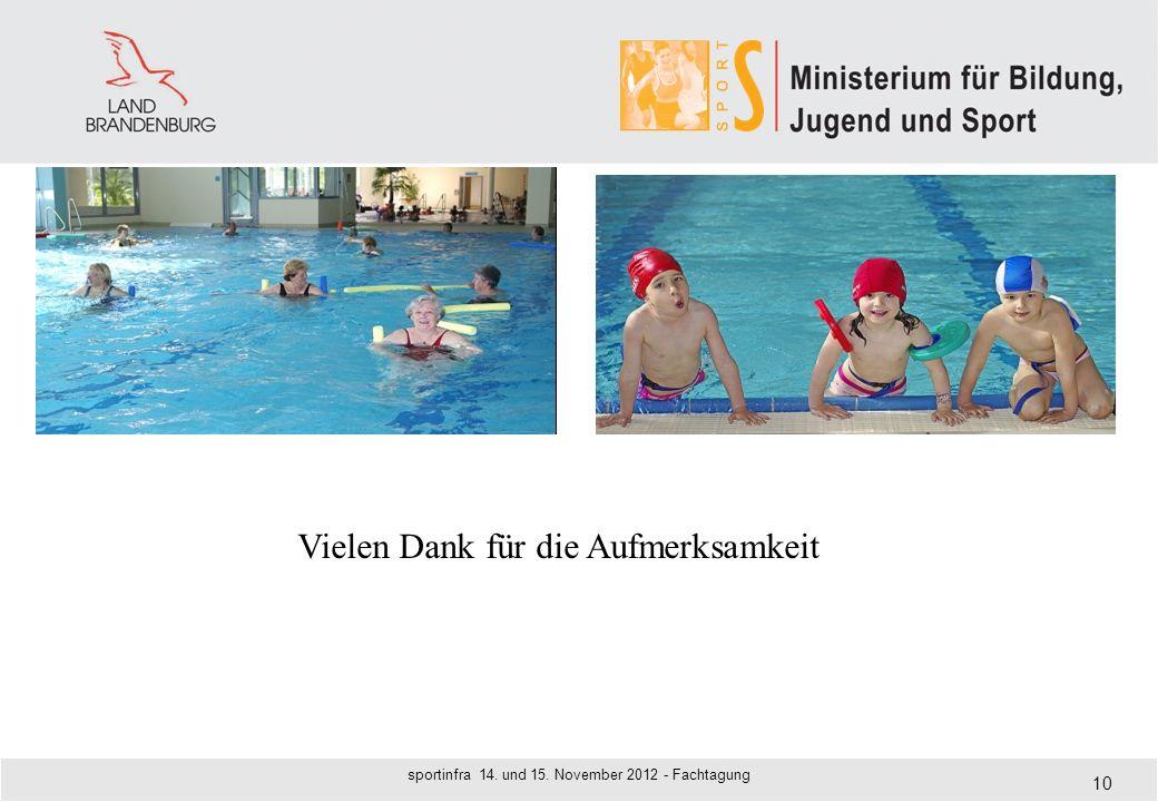 sportinfra 14. und 15. November 2012 - Fachtagung