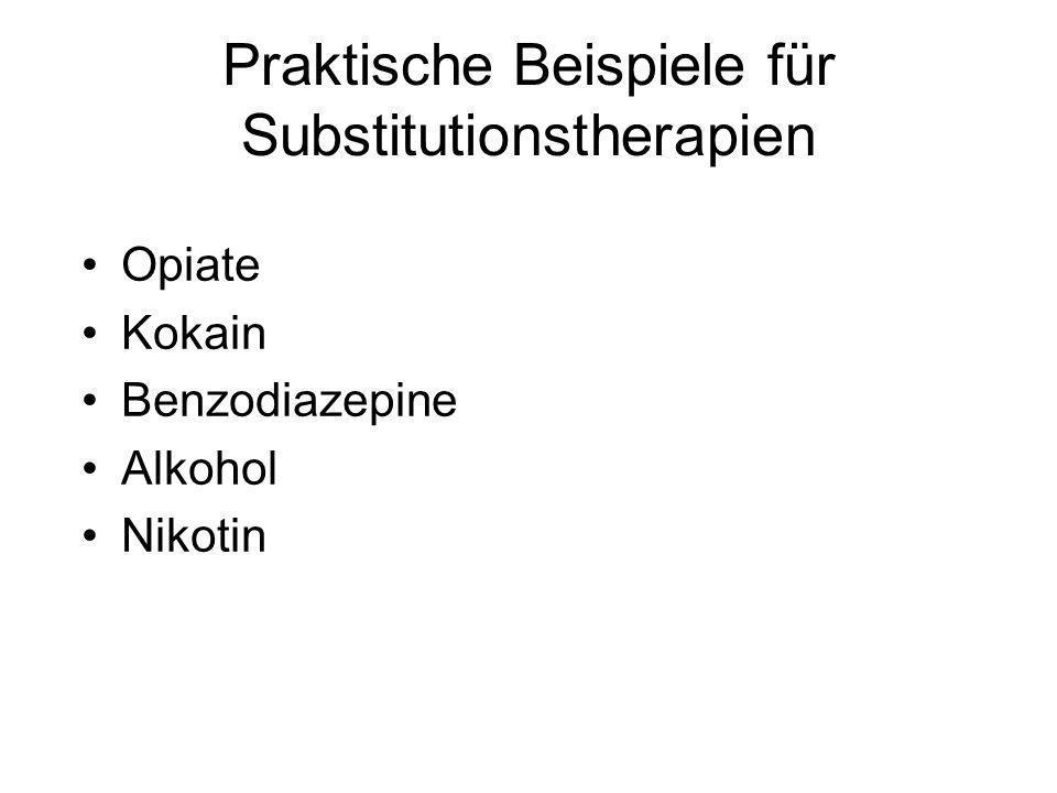 Praktische Beispiele für Substitutionstherapien