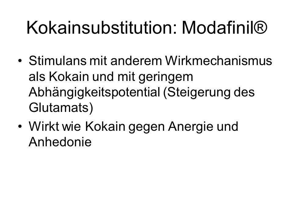 Kokainsubstitution: Modafinil®