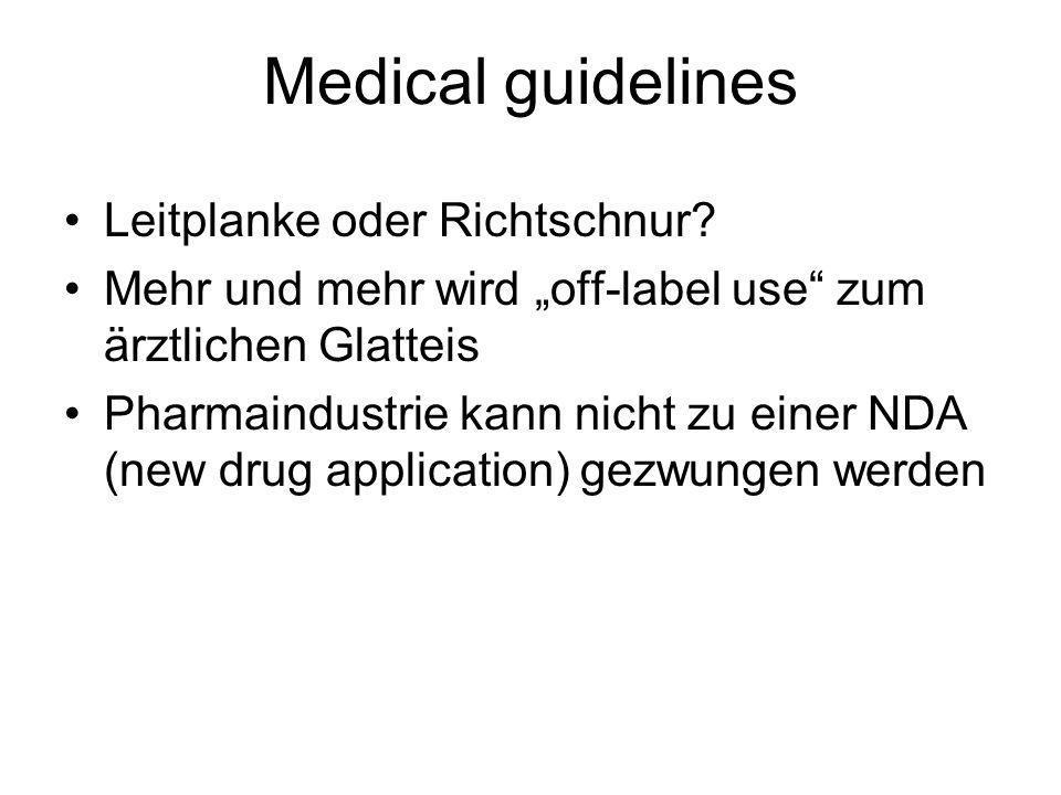 Medical guidelines Leitplanke oder Richtschnur