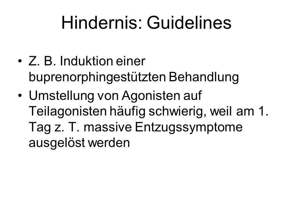 Hindernis: Guidelines