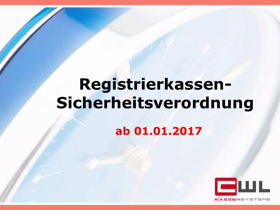 Registrierkassen-Sicherheitsverordnung