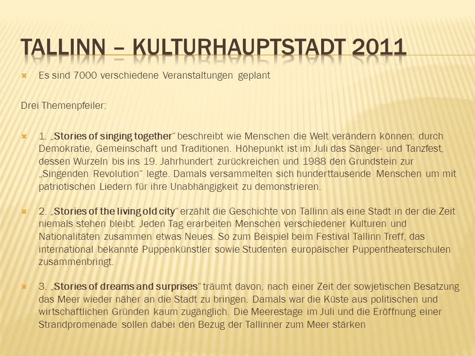 Tallinn – Kulturhauptstadt 2011
