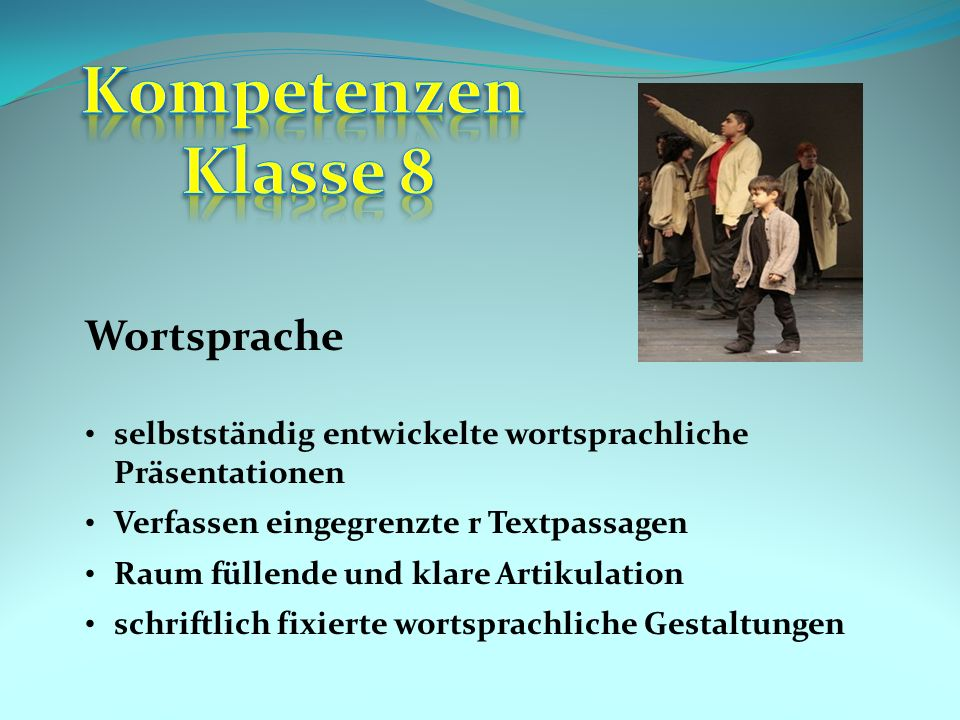 Kompetenzen Klasse 8 Wortsprache