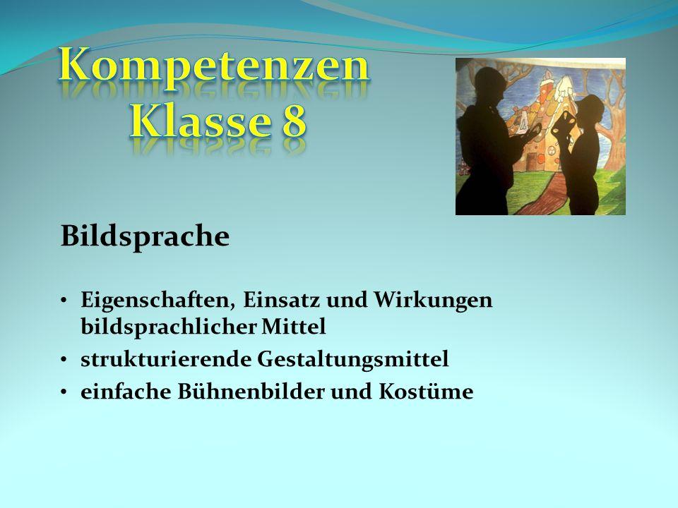 Kompetenzen Klasse 8 Bildsprache