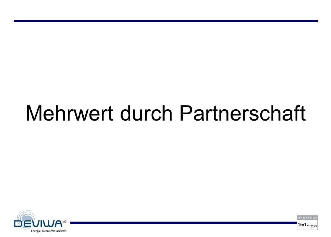 Mehrwert durch Partnerschaft