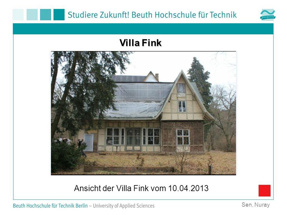Ansicht der Villa Fink vom 10.04.2013
