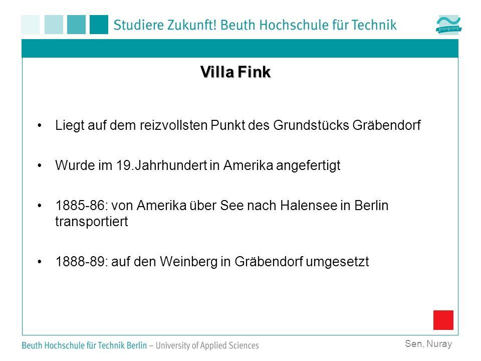 Villa Fink Liegt auf dem reizvollsten Punkt des Grundstücks Gräbendorf
