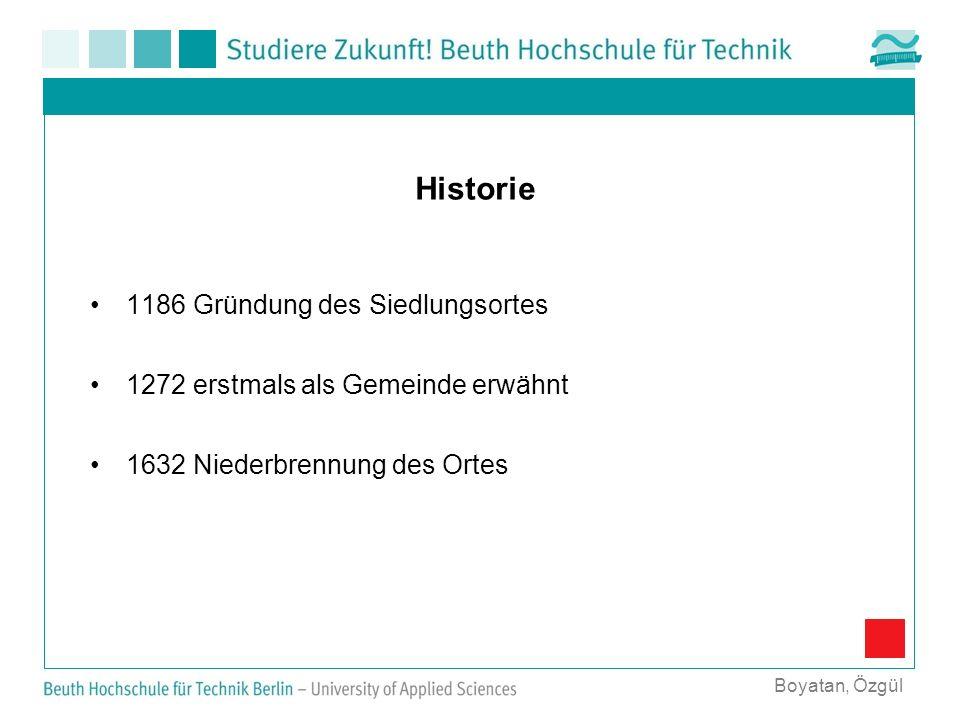 Historie 1186 Gründung des Siedlungsortes