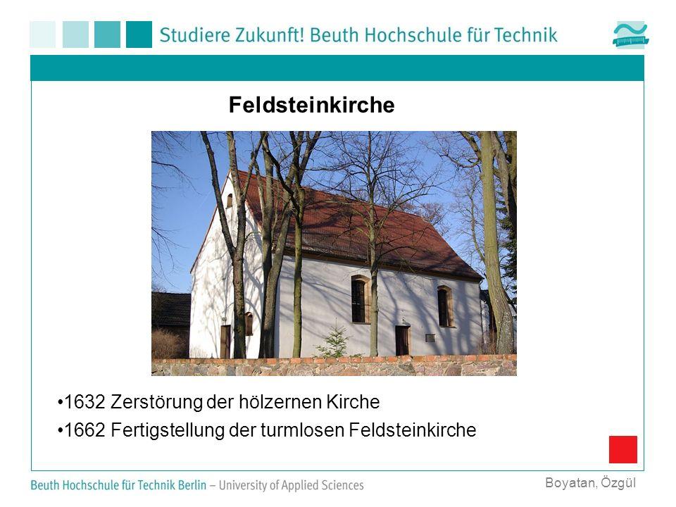 Feldsteinkirche 1632 Zerstörung der hölzernen Kirche
