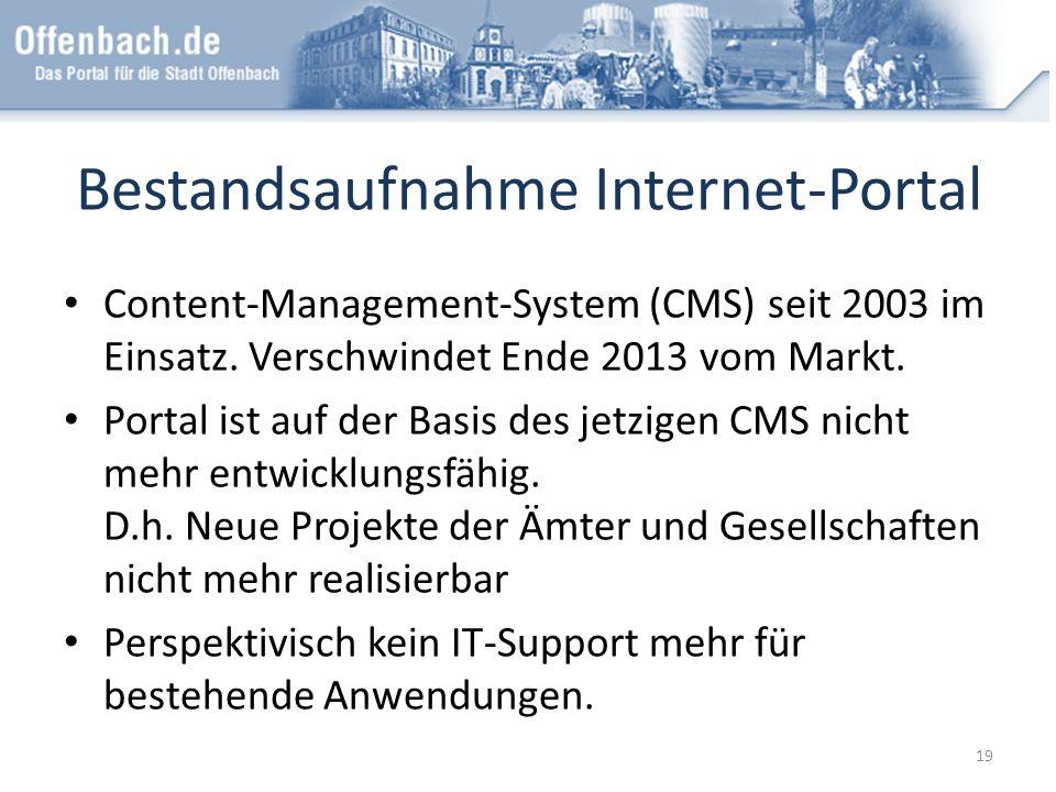 Bestandsaufnahme Internet-Portal
