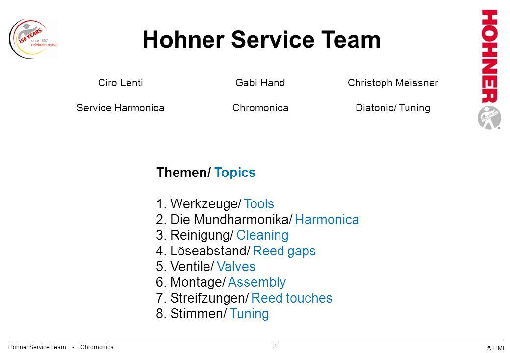 Hohner Service Team Themen/ Topics Werkzeuge/ Tools