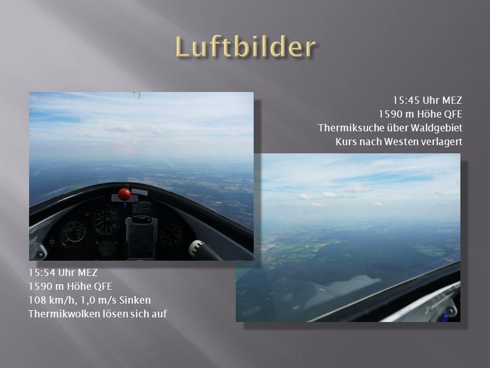 Luftbilder 15:45 Uhr MEZ 1590 m Höhe QFE Thermiksuche über Waldgebiet