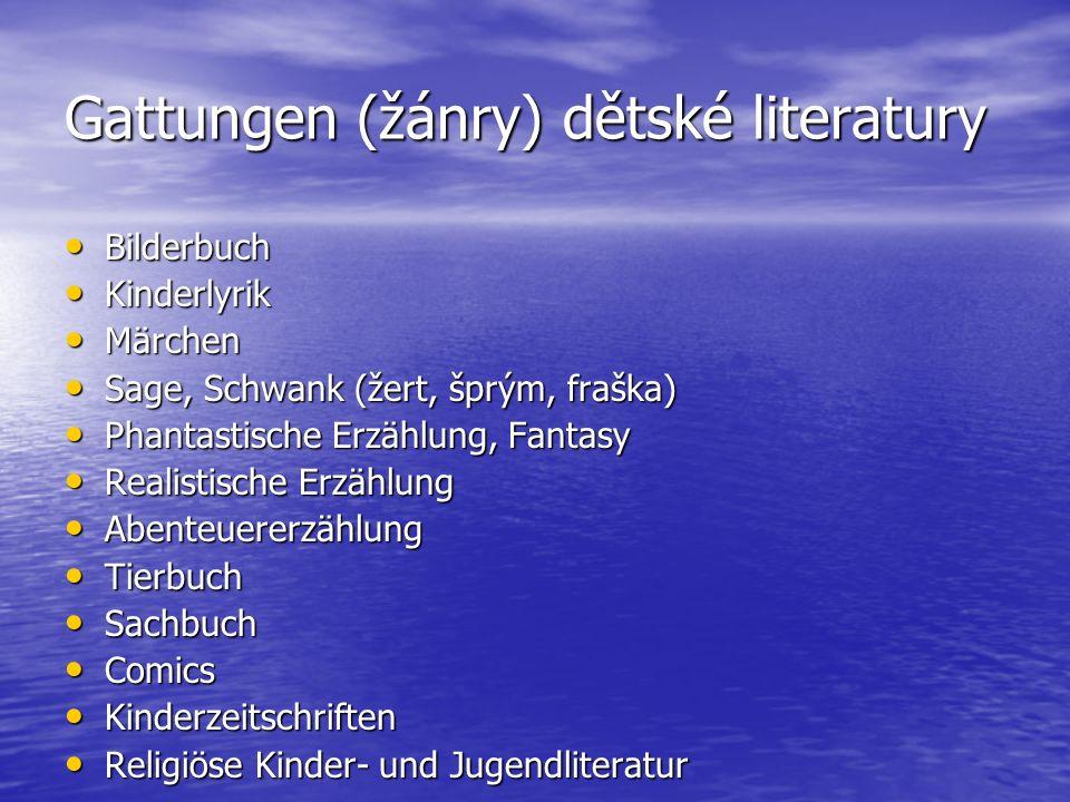 Gattungen (žánry) dětské literatury