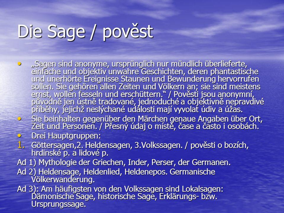 Die Sage / pověst