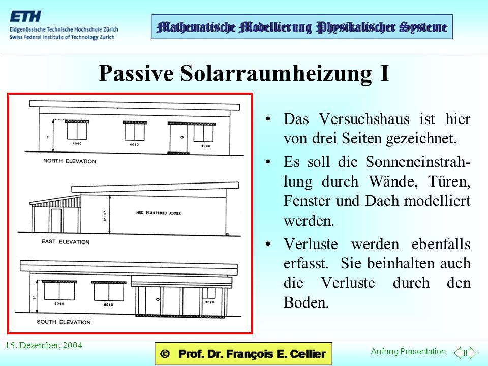Passive Solarraumheizung I