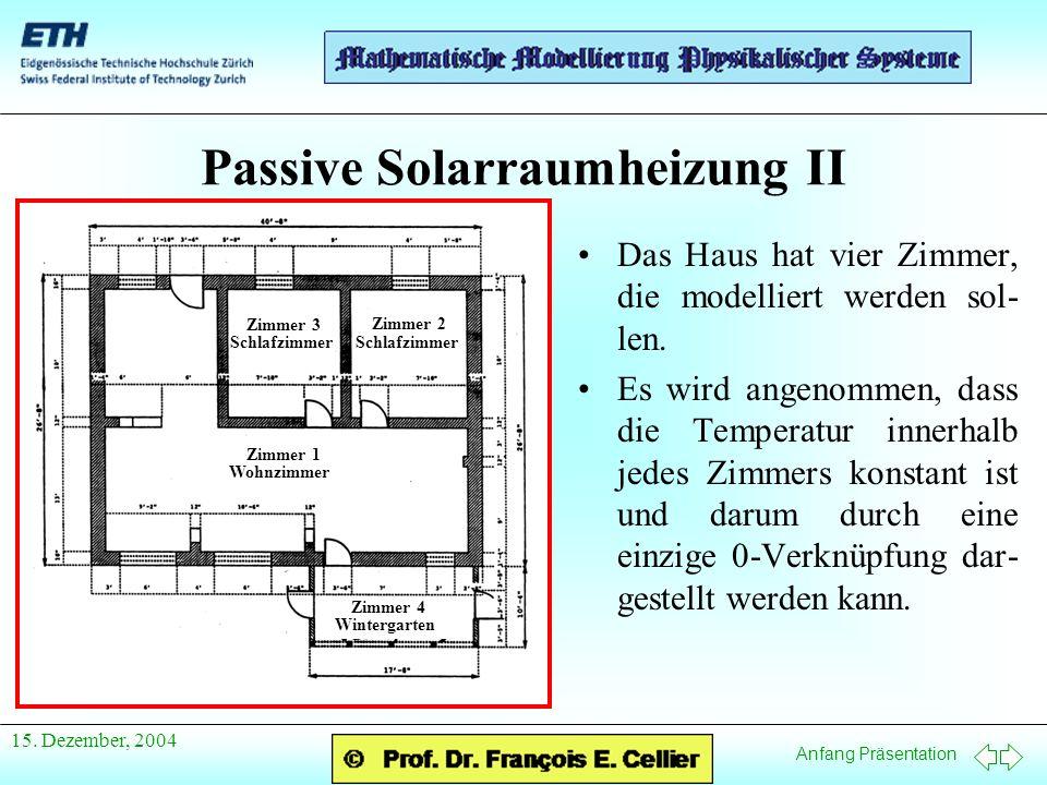 Passive Solarraumheizung II