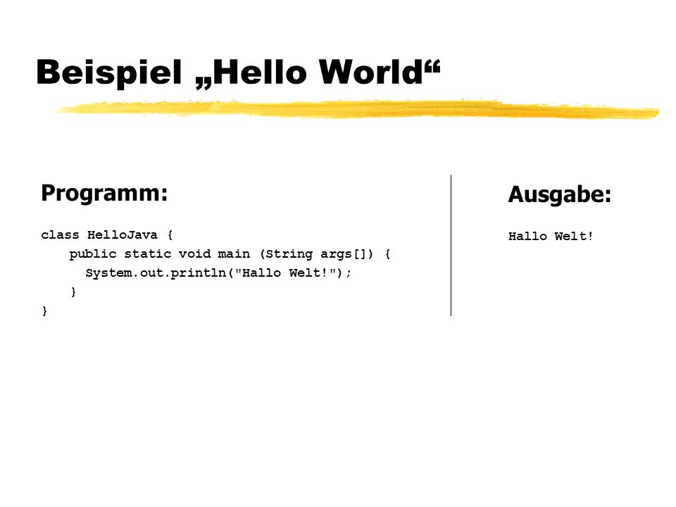 "Beispiel ""Hello World"