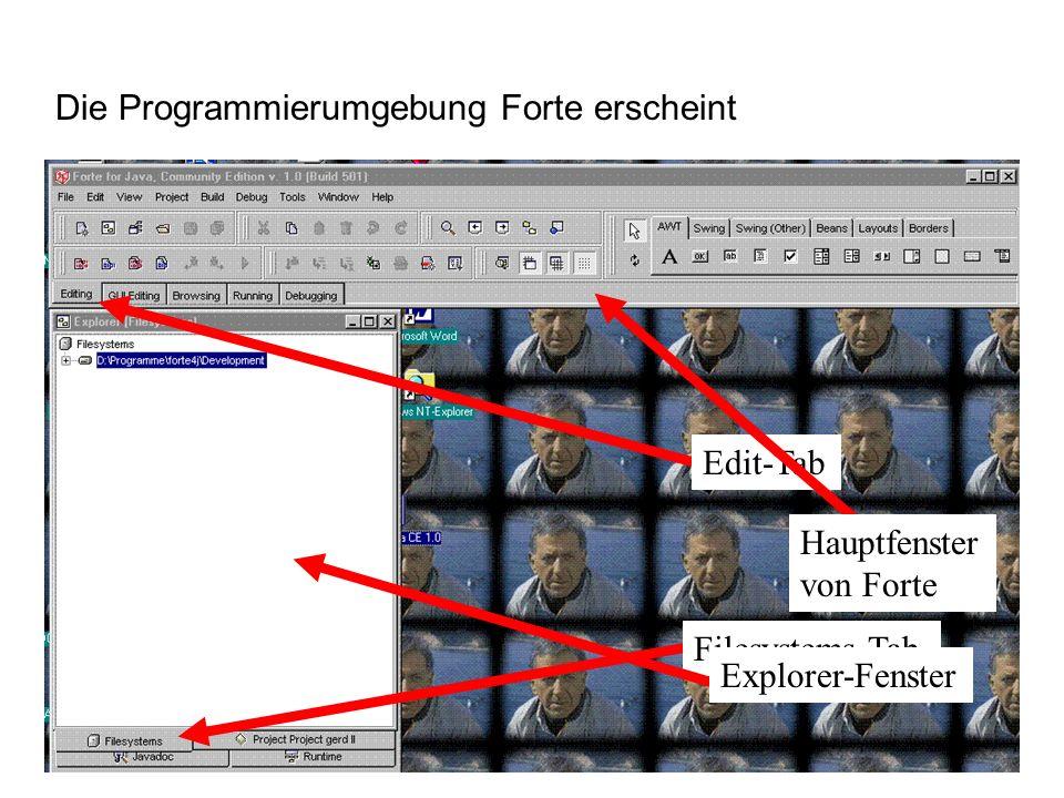 Die Programmierumgebung Forte erscheint
