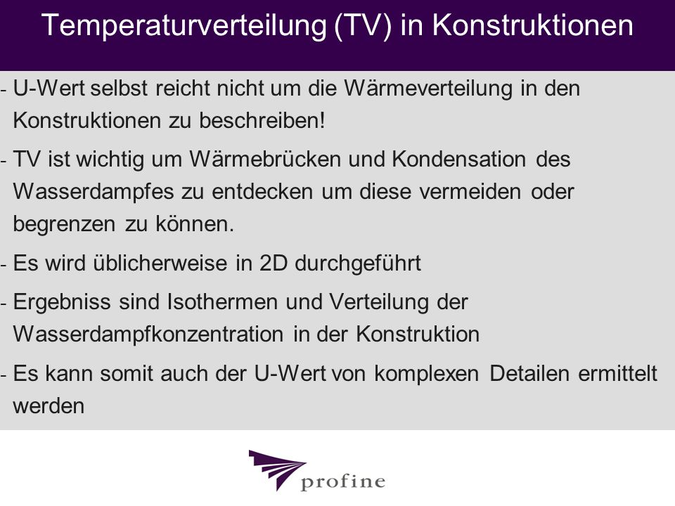 Temperaturverteilung (TV) in Konstruktionen