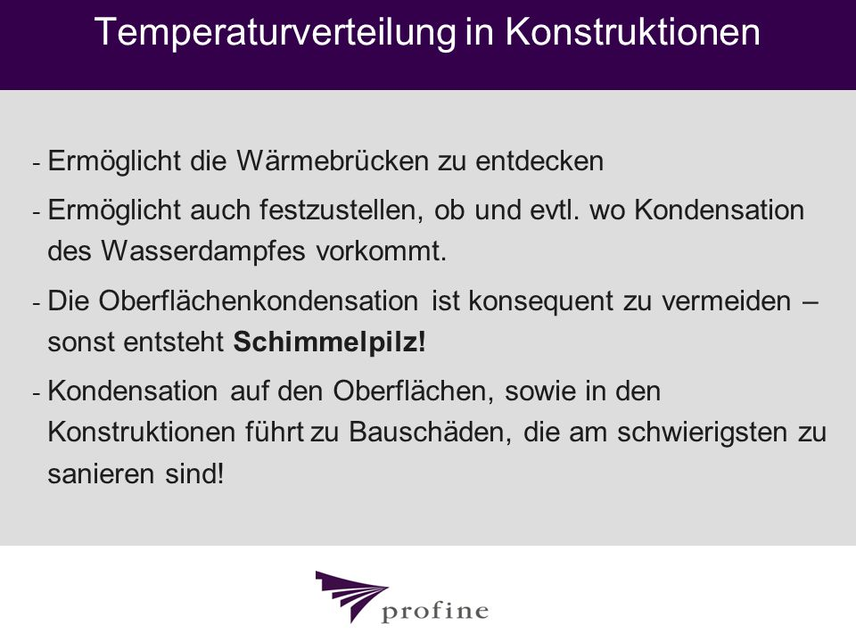 Temperaturverteilung in Konstruktionen