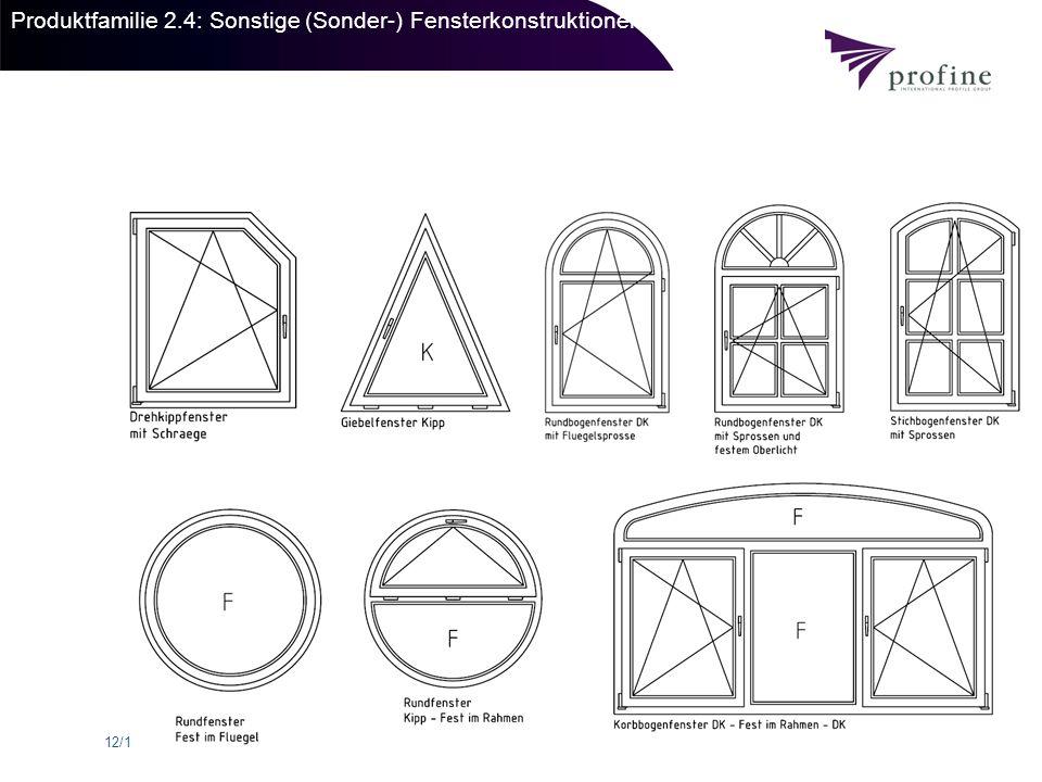 Produktfamilie 2.4: Sonstige (Sonder-) Fensterkonstruktionen