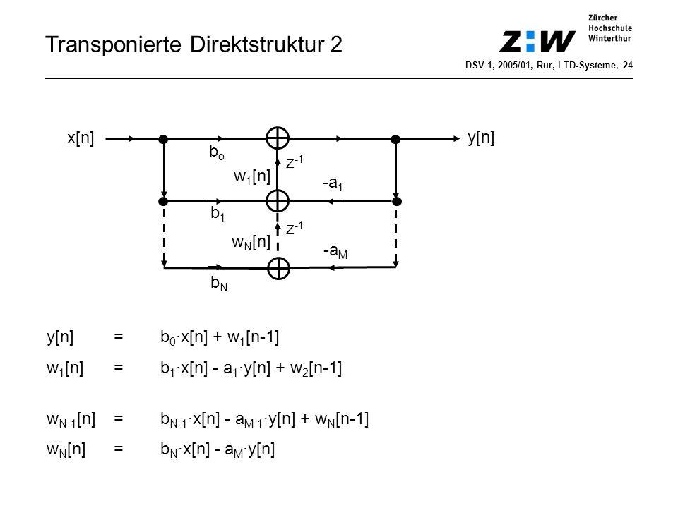Transponierte Direktstruktur 2