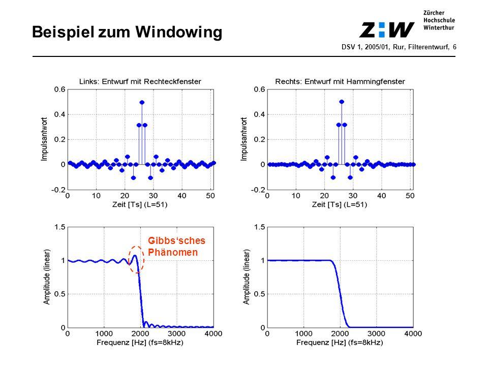 Beispiel zum Windowing