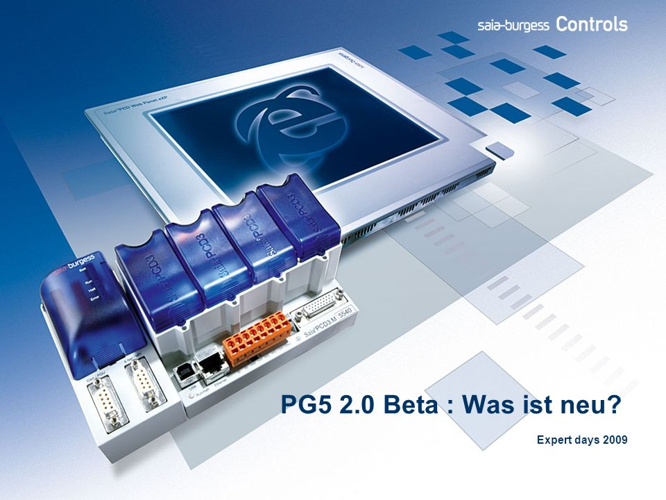 PG5 2.0 Beta : Was ist neu Expert days 2009