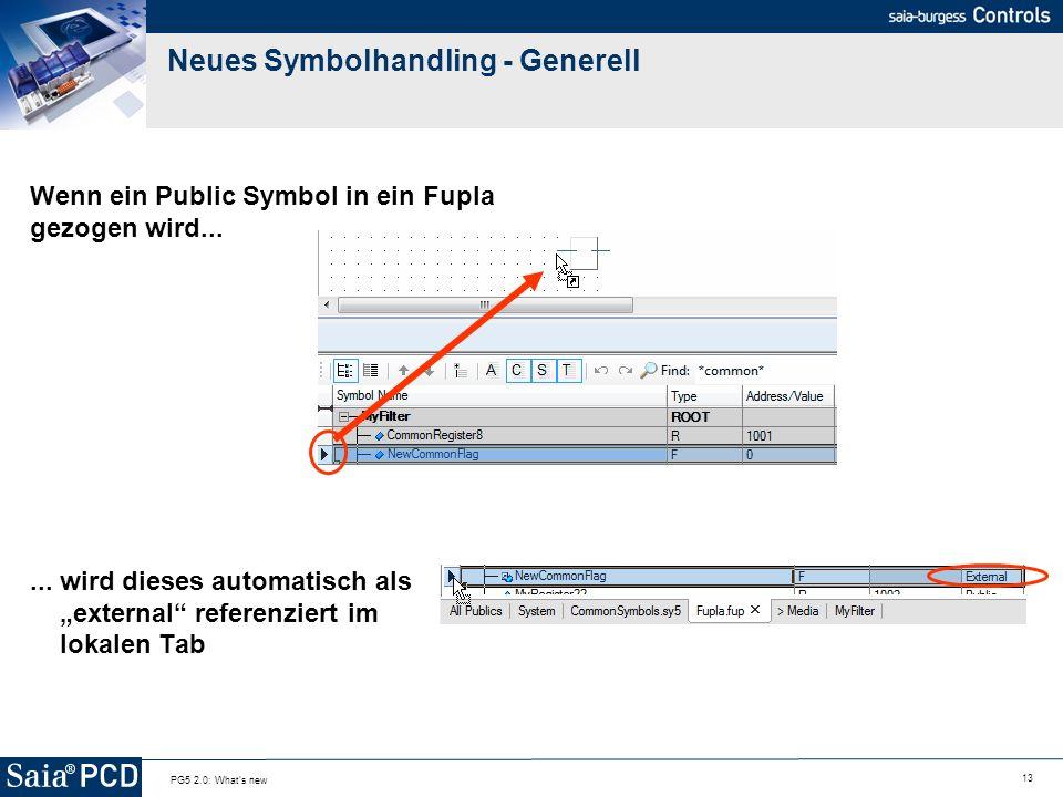 Neues Symbolhandling - Generell