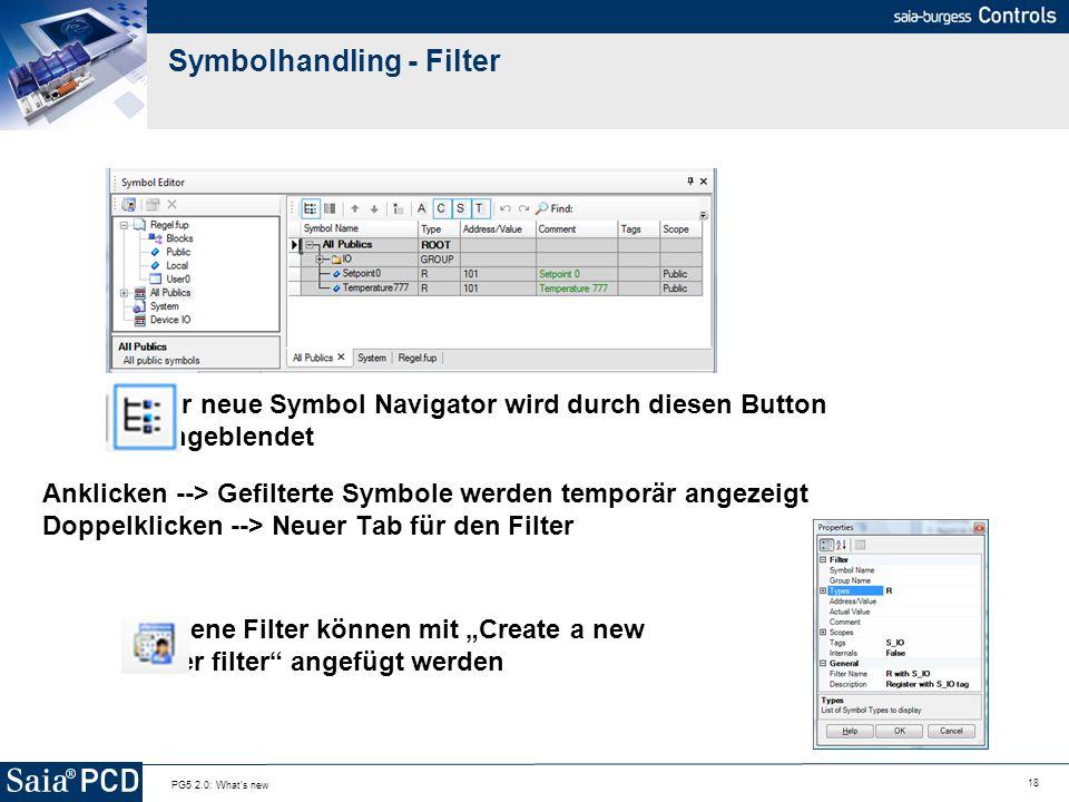 Symbolhandling - Filter