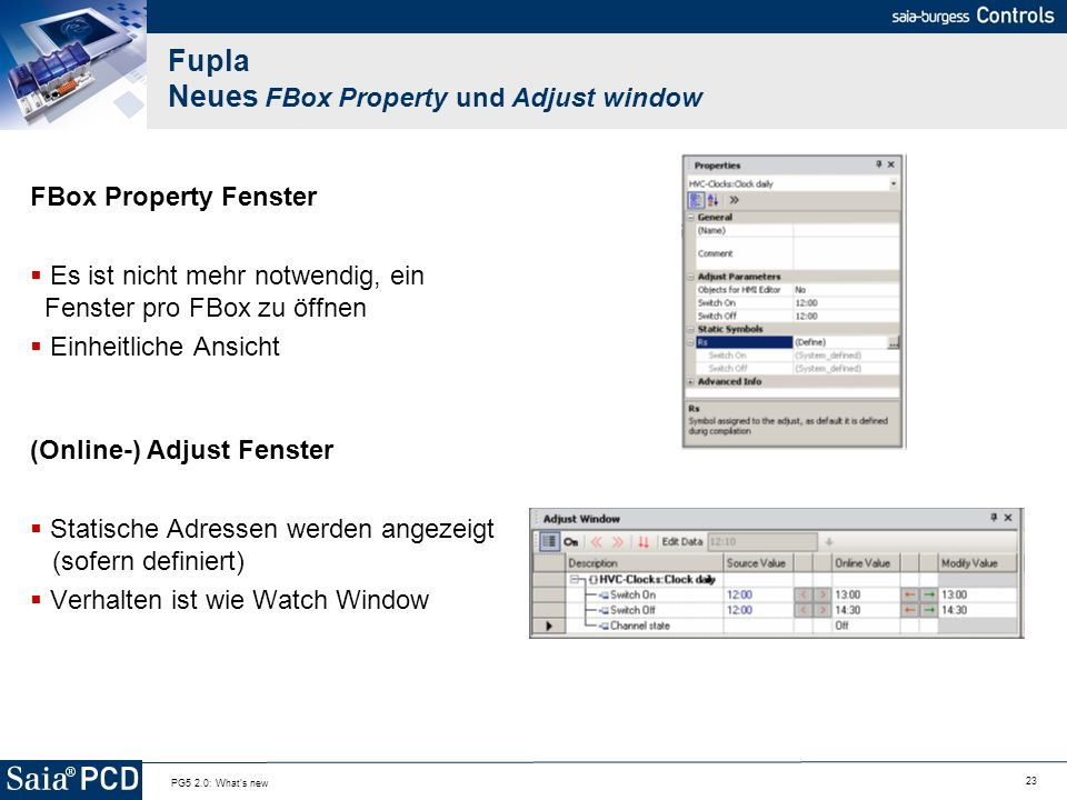 Fupla Neues FBox Property und Adjust window