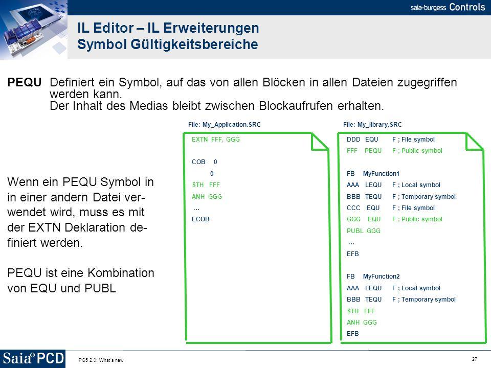 IL Editor – IL Erweiterungen Symbol Gültigkeitsbereiche