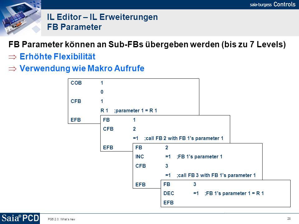 IL Editor – IL Erweiterungen FB Parameter