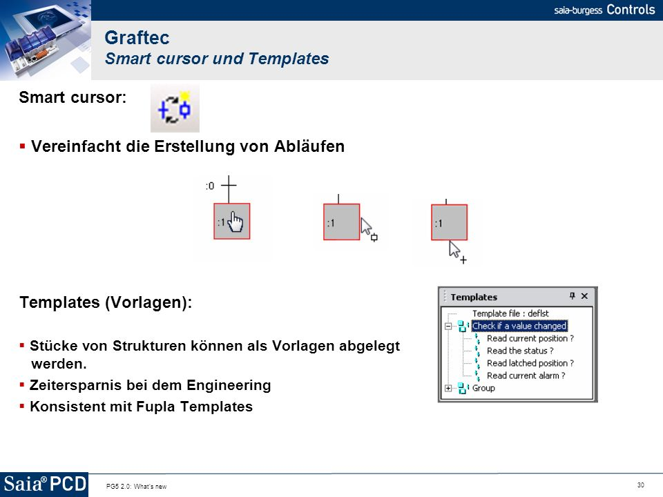 Graftec Smart cursor und Templates