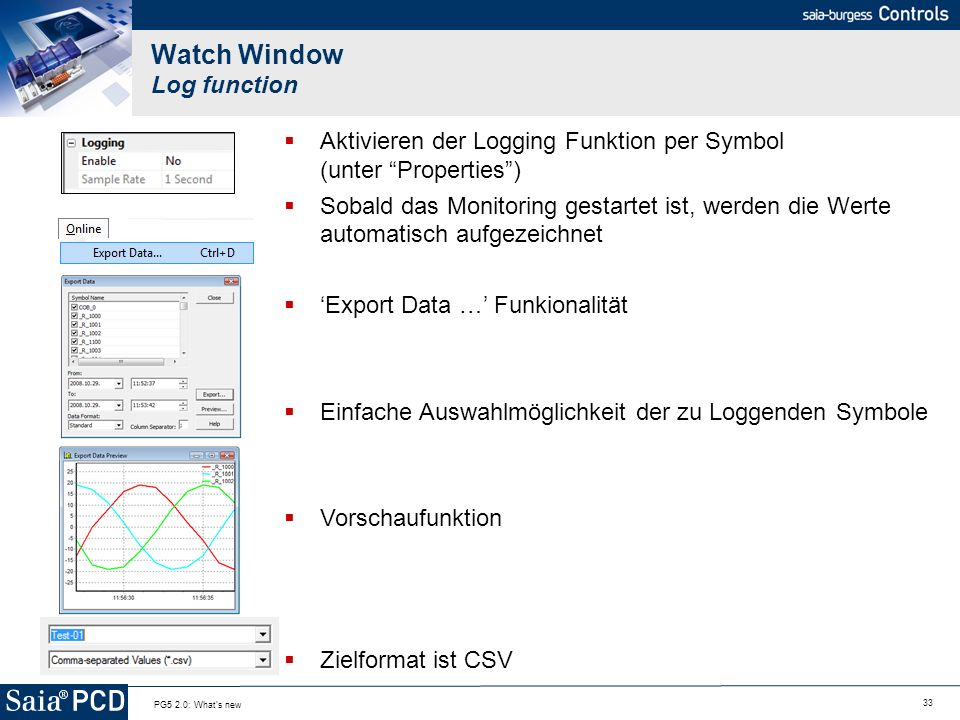 Watch Window Log function