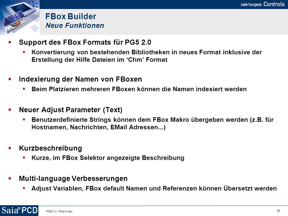 FBox Builder Neue Funktionen