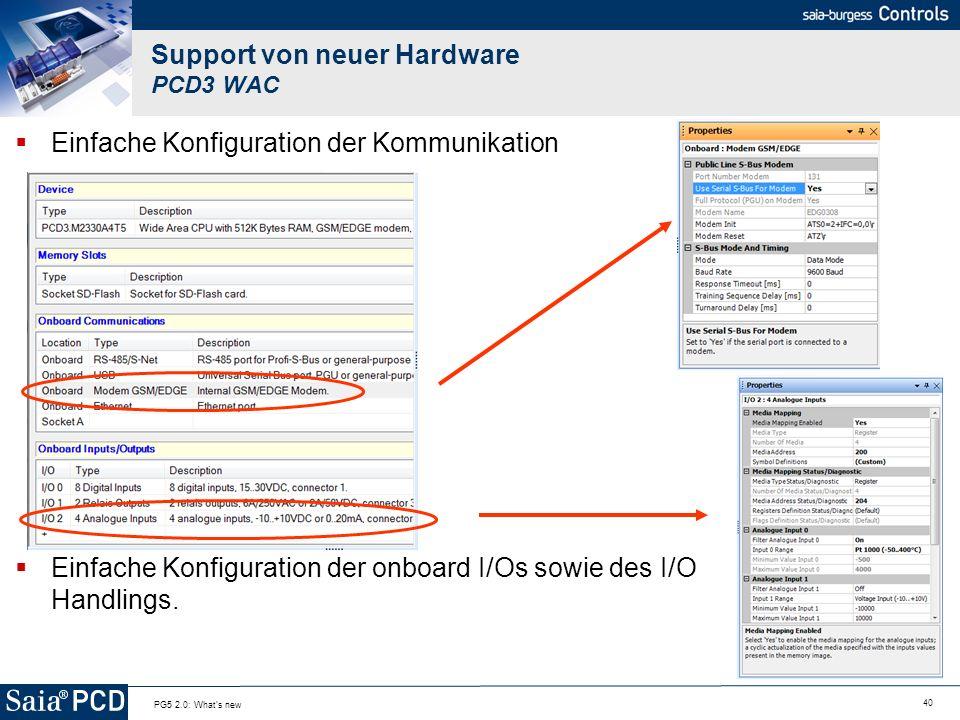 Support von neuer Hardware PCD3 WAC