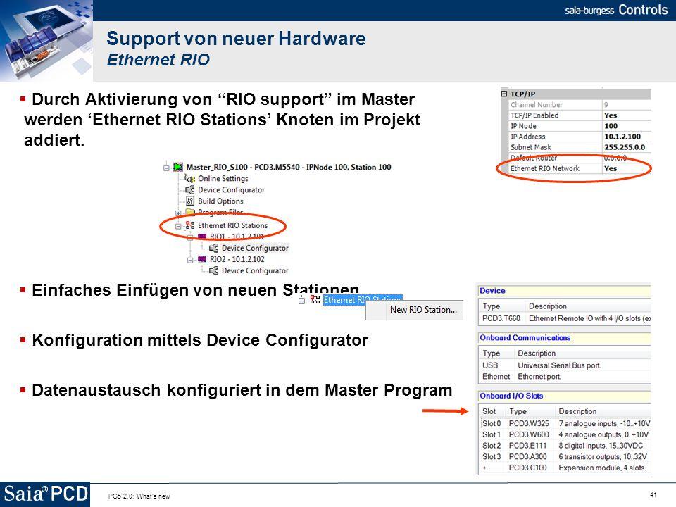 Support von neuer Hardware Ethernet RIO