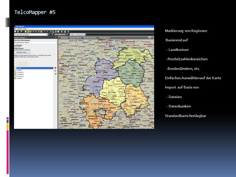 TelcoMapper #5 Markierung von Regionen Basierend auf - Landkreisen