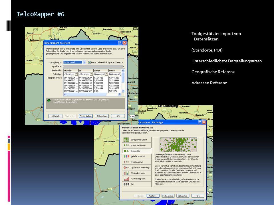 TelcoMapper #6 Toolgestützter Import von Datensätzen: (Standorte, POI)