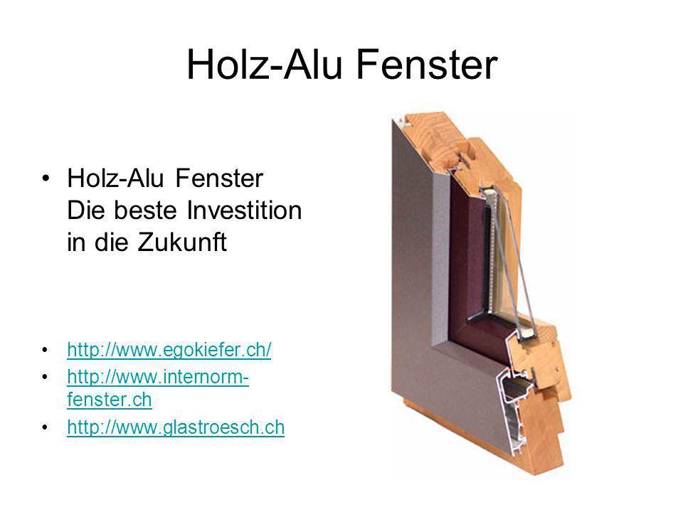 Holz-Alu Fenster Holz-Alu Fenster Die beste Investition in die Zukunft