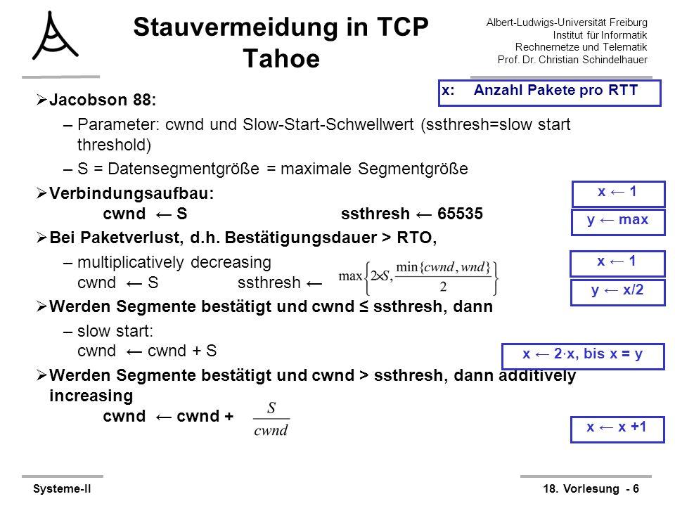 Stauvermeidung in TCP Tahoe