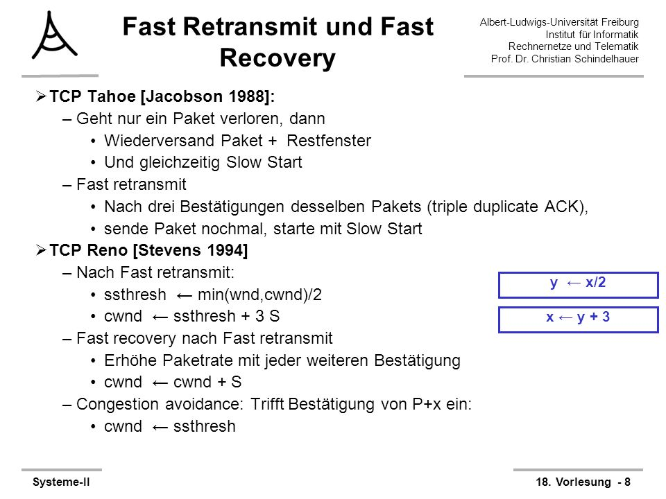 Fast Retransmit und Fast Recovery