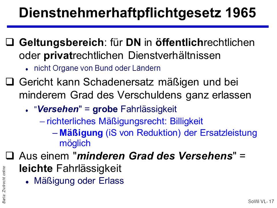 Dienstnehmerhaftpflichtgesetz 1965