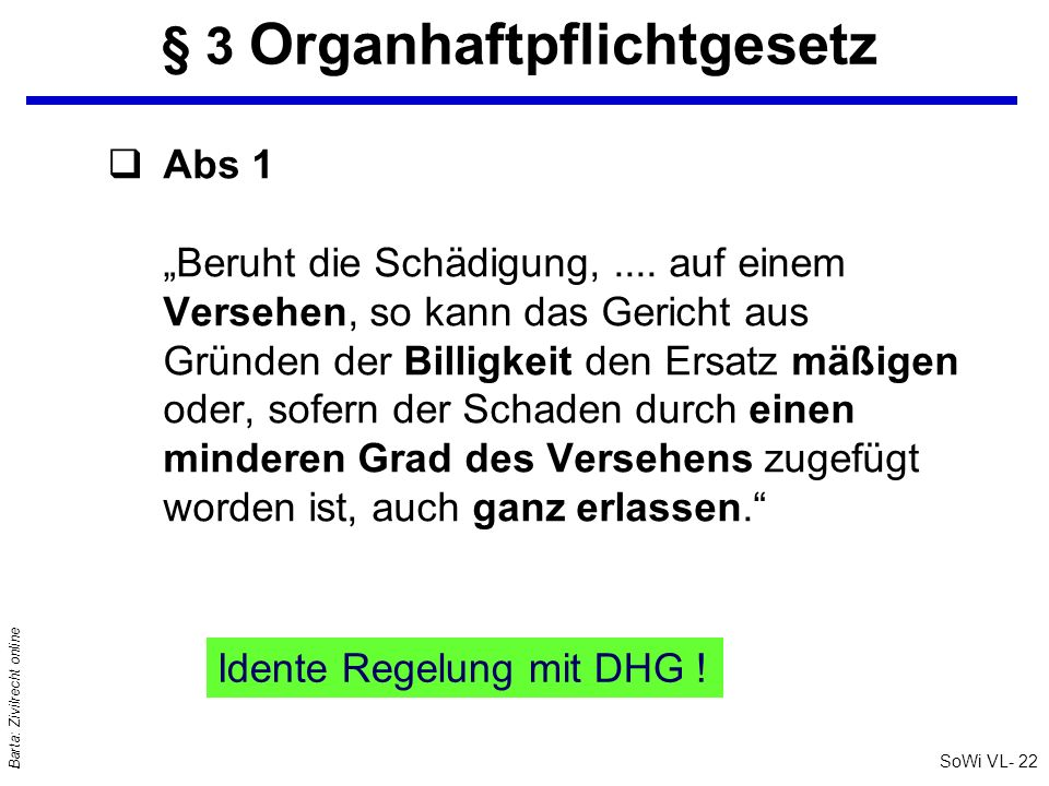 § 3 Organhaftpflichtgesetz