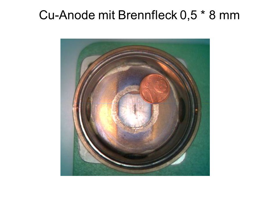 Cu-Anode mit Brennfleck 0,5 * 8 mm
